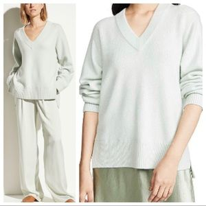 Vince Cashmere V-Neck Pullover Tunic Sweater
